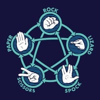 Rock Paper Scissors Lizard Spock T-Shirt | SnorgTees