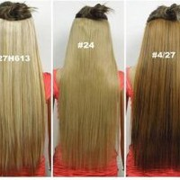 Fashionable Kanekalon Long Straight Synthetic Full Head Clip in Hair Extensions
