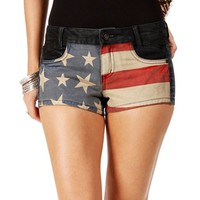 Dark Denim Stars And Stripes Shorts