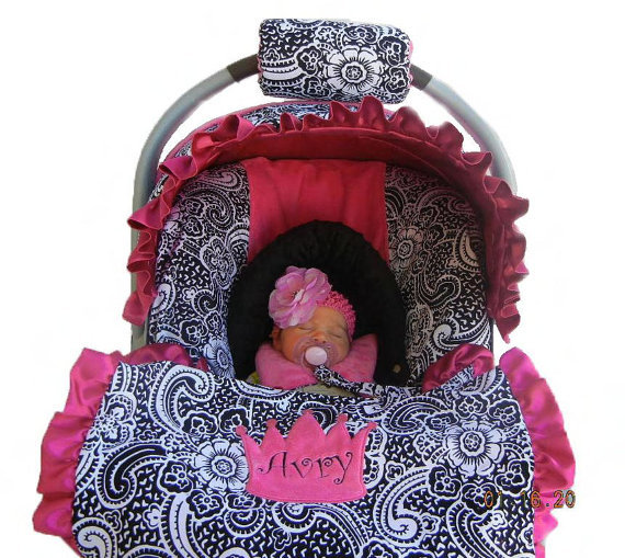Baby Car Seat Cover Girl Isewjo Etsy