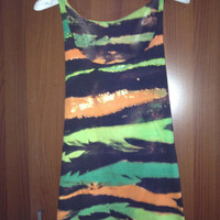 Hand coloured painted and dyed Tank by Moleek7 on Etsy