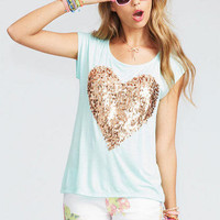 Sparkle Heart Short-Sleeve