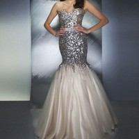 New 2013 Paillette Lace Mermaid Prom Ball Pageant Dress Evening Gowns Custom