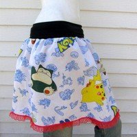 POKEMON TuTu Skirt your size from repurposed fabric | PoppysWickedGarden - Clothing on ArtFire