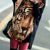 Tiger Print Oversize T-shirt from OASAP-USA