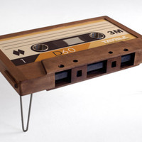Double Diamond Cassette Tape Coffee Table