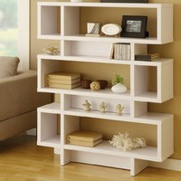Celio Three-Tier Bookcase / Display Cabinet in Matte White:Amazon:Furniture & Decor