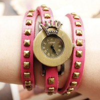 New Fashion Roman Style Crown Women's Leather Wrist Watch - Watches - Accessories - Women Free Shipping