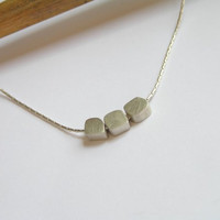 Silver Necklace Pendant  Small Cubes by DaliaShamirJewelry on Etsy