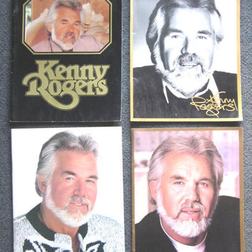 4 Kenny Rogers Concert Tour Programs, Country Music 1980s, souvenir booklets