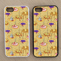 Cool Hipster Pancake Pattern iPhone Case, iPhone 5 Case, iPhone 4S Case, iPhone 4 Case - SKU: 92