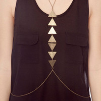 Triangles Bodychain in Brass :: tobi