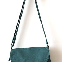 Feels Like Pre-Loved Crossbody Satchel, Teal