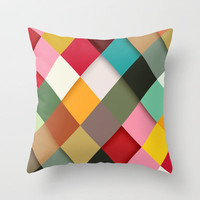 Colorful Throw Pillow by Danny Ivan