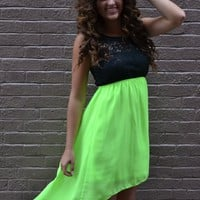 Piace Boutique - Neon Lights Dress in Dresses