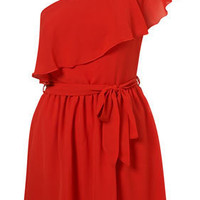 Asymmetric Ruffle Dress by Rare** - Dresses - Clothing - Topshop USA