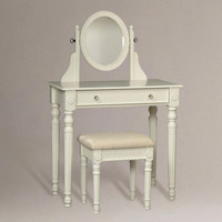 White Victoria Vanity Set - World Market