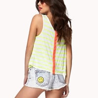 Zip-Back Striped Tank