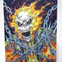 Ghost Rider - Upper Deck Thor Artist Proof Sketch Card 2011 | 3DXStudios - ACEO on ArtFire
