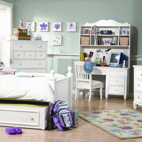Somerset Bay White Twin Size Poster Bed