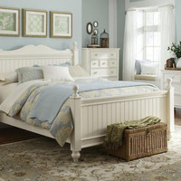 Somerset Bay White Queen Size Poster Bed
