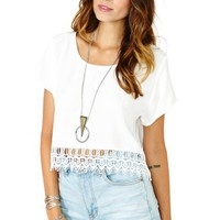 Open Road Crop Tee