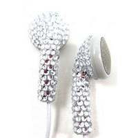Crystal Rhinestone Earphones Earbuds with Microphone