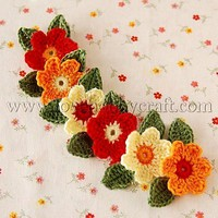 Wholesale Cheap Creative DIY Flower and Leaf Appliques Mixed Color Cotton  4cm at Lovehobbycraft.com