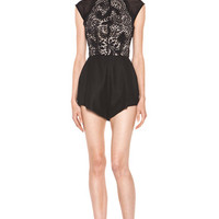Lover | Eternity Short Romper in Black www.FORWARDbyelysewalker.com
