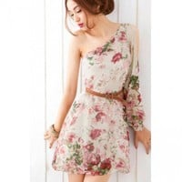 Apricot Chiffon Dress | Free Shipping