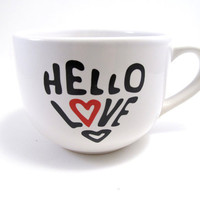 Hello Love Extra Large Screen Printed by simplyprettyprints