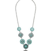 Turquoise Medallion Y-Necklace