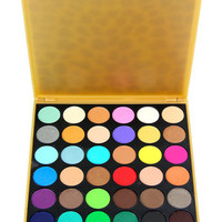BEAUTE BASICS N/A 36-Color Matte Leopard Print Eyeshadow Palette