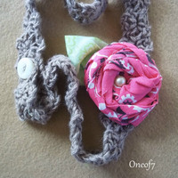 Crochet Headband n Bandana Rose   Vintage Inspired by oneof7