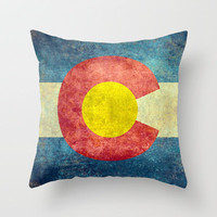 Colorado State Flag Throw Pillow by Bruce Stanfield