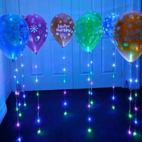 SPARKLE RIBBON - LED LIGHT UP RIBBON - 5 pack multi color