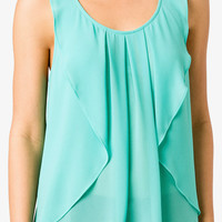 Textured Flounce Trimmed Top
