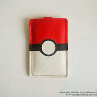 Pokeball iPhone Case / iPhone 4 Case / iPhone 4 by rabbitsmile