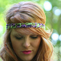 Boho Headband Crochet Hair Fashion Elastic Closure Bohemian Style Headband Paradise