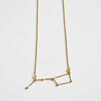 Ursa Major / Big dipper necklace 18k goldplate over sterling silver