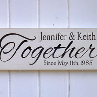 Customized Name Anniversary Sign