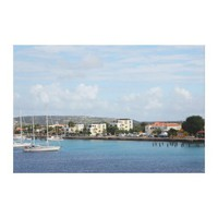 Bonaire Kralendijk Harbor Sailing Boats Gallery Wrapped Canvas from Zazzle.com