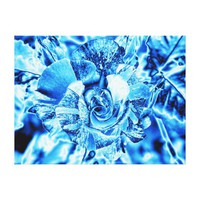 Blue Ice Rose Photo Edit Stretched Canvas Prints from Zazzle.com