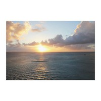 Aruba: Scenic Sunset over the Sea Canvas Prints from Zazzle.com