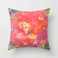 Flowering to Bloom Throw Pillow by Ben Geiger