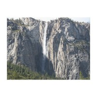 Ribbon Fall Waterfall in Yosemite Park Canvas Print from Zazzle.com