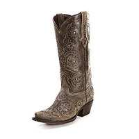 Lucchese Rustic Stud Cowgirl Boots M5730 BLK/DIST - PFI Western Store