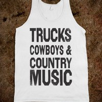 Trucks Cowboys And Country Music Summer Tank