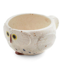 Know It Owl Mug in Cream | Mod Retro Vintage Kitchen | ModCloth.com