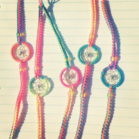 Neon Rainbow Dream Catcher Friendship Bracelet
